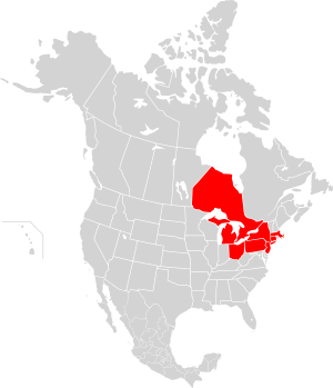 Map of 2003 North American Blackout