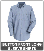 Men's Button Front Long Sleeve Shirts