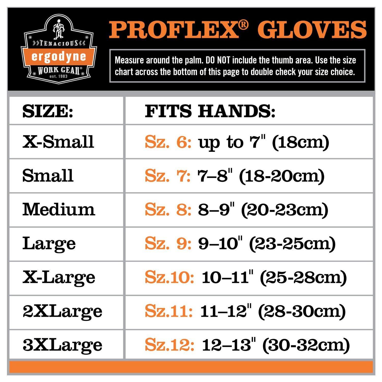 Ergodyne Gloves Sizing Chart