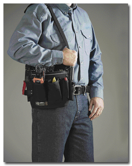 Worker Standing with Tool Bag