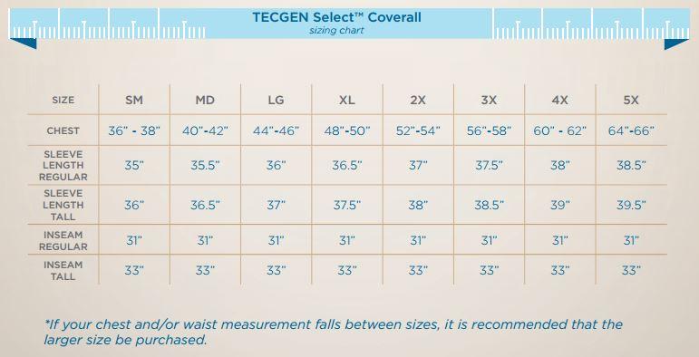 Coverall Size Chart Drifire Coverall Sizing Chart Ayucar