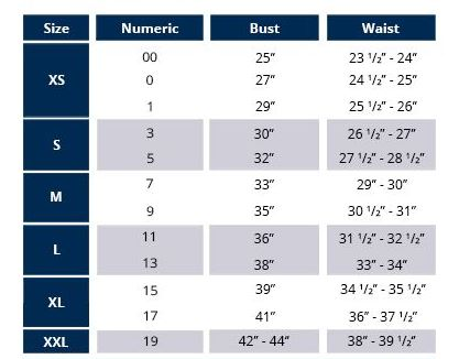 Wrangler Women 39 S Sizing Information