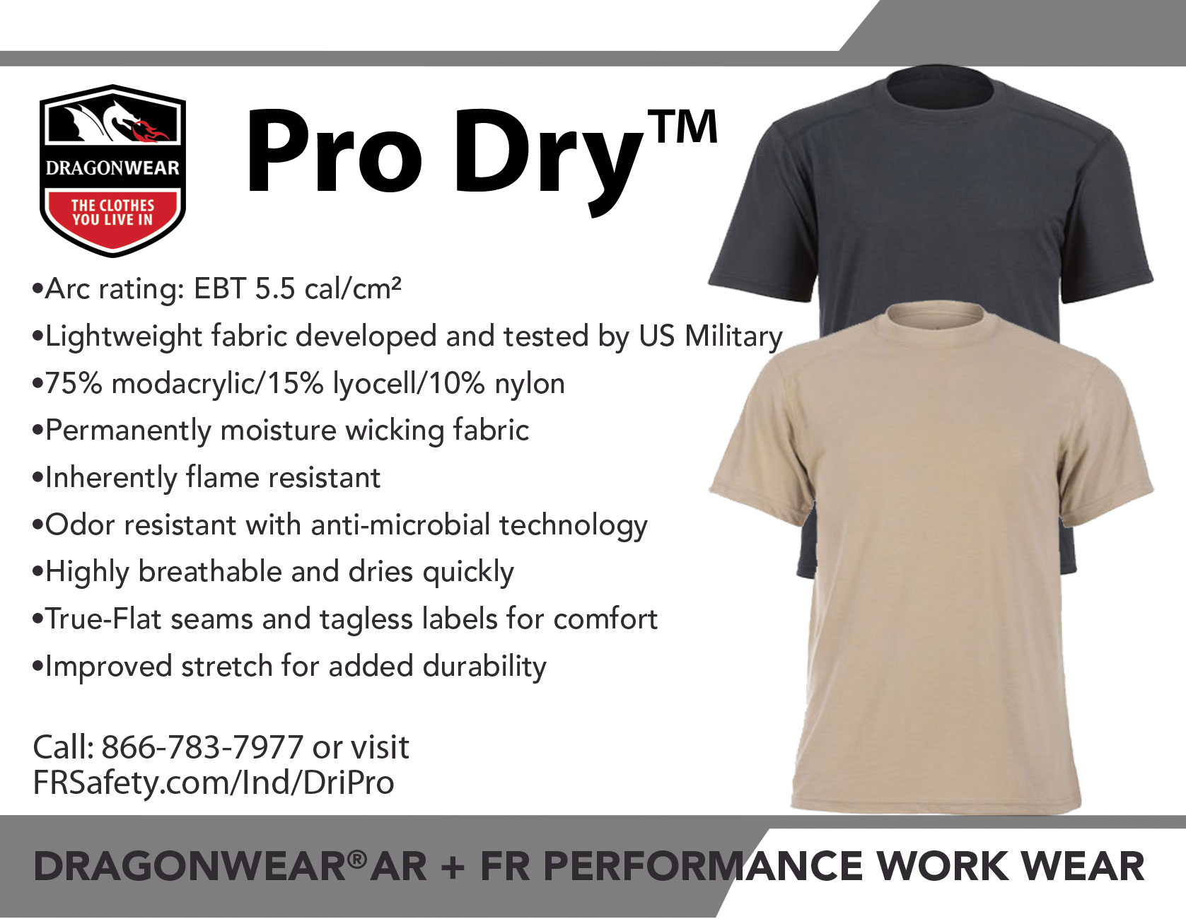 29482b3aa FRS: What is your favorite feature of the Pro Dry™ shirt? DS: The soft  hand. It is so much more comfortable against your skin than the previous  shirt.