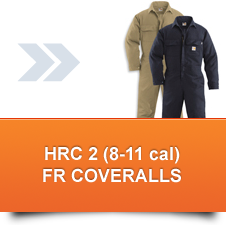 HRC 2 FR Coveralls (8 -11 cal/cm²)