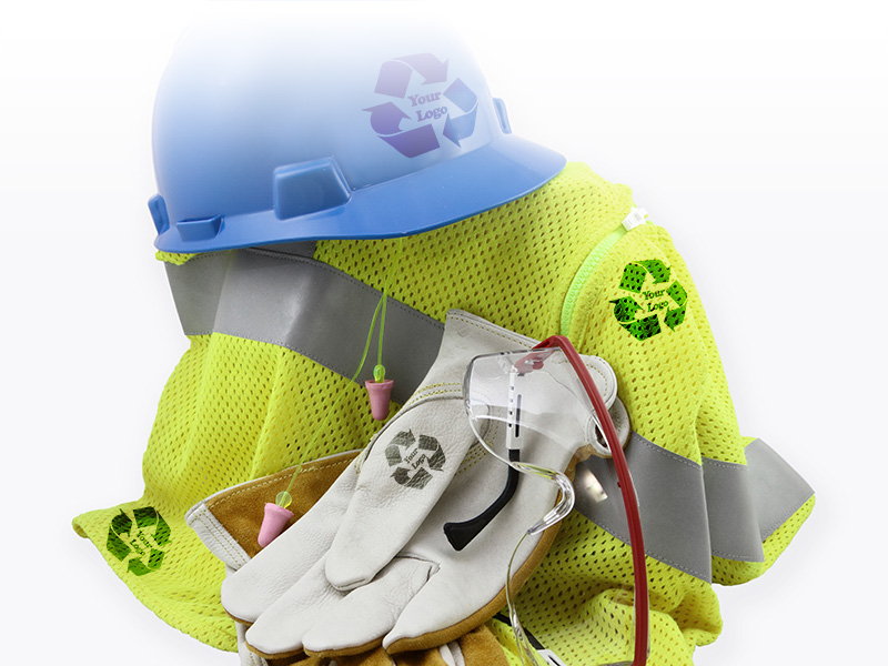 Your company logo or branding on safety equipment & products from Ritz Safety