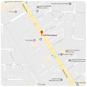 Jacksonville map clip - Ritz Safety