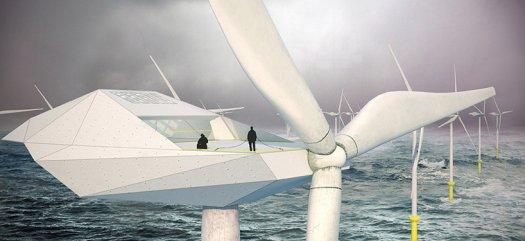 Wind Turbine in the Ocean