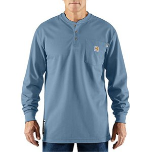 Carhartt Flame-Resistant FORCE Cotton Long-Sleeve Henley