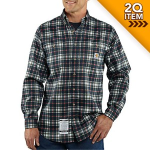 Carhartt FRC Work Shirt in Navy Plaid