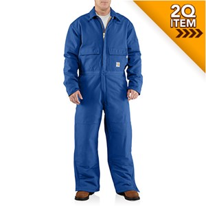 Carhartt Quilt-Lined FR Coverall in Royal Blue - NEW PRICE