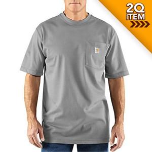 Carhartt FR Force Cotton Shirt in Light Gray