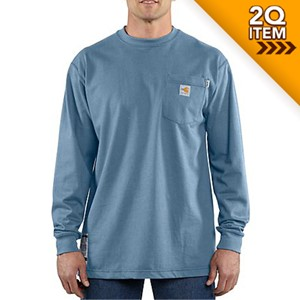 FR Force Cotton Long Sleeve Shirt in Medium Blue