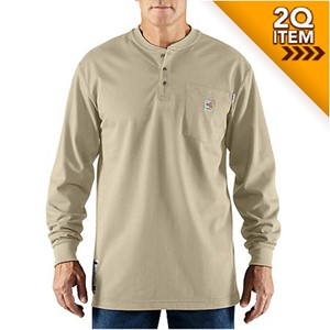 Carhartt Flame Resistant Cotton Henley in Sand