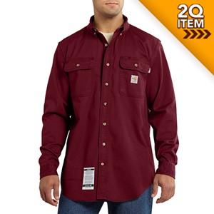 Carhartt FR Oakman Work Shirt in Dark Red