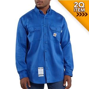 Carhartt FR Moisture Wicking Twill Shirt in Royal Blue