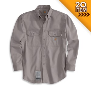 Carhartt Flame Resistant Twill Shirt in Gray