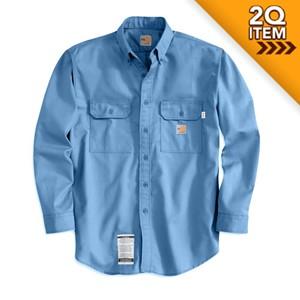 Twill FR Work Shirt in Medium Blue