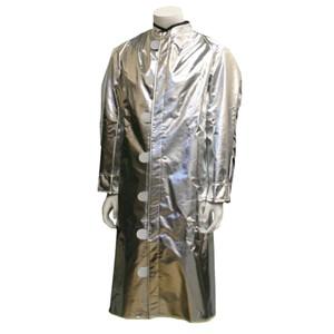 Deluxe Ventilated Aluminized Carbon Kevlar Coat/Green Sateen Back