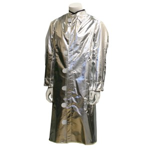 "Deluxe Ventilated 30"" 19 oz. Aluminized Carbon / Para-Aramid Coat"