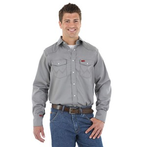Men's Western FR Work Shirt in Charcoal
