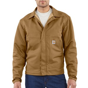 FR Midweight Quilt-Lined Canvas Dearborn Jacket-Brown