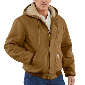 Flame Resistant Duck Active Jacket with Quilt Lining - Brown
