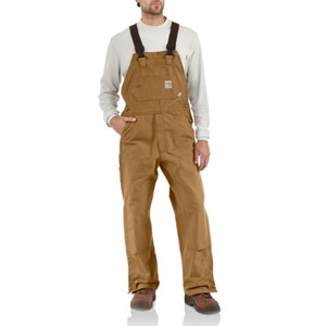 Unlined Flame Resistant Duck Bib Overall