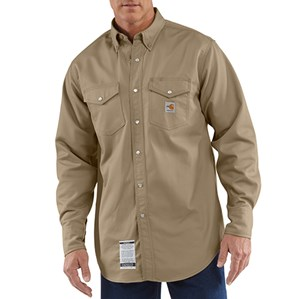 Flame Resistant Snap Front Twill Shirt