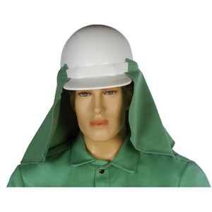 9 oz. FR Green Sateen Neck Protector with Elastic Attachment