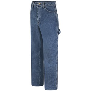 Bulwark Stone Washed FR Denim Dungaree
