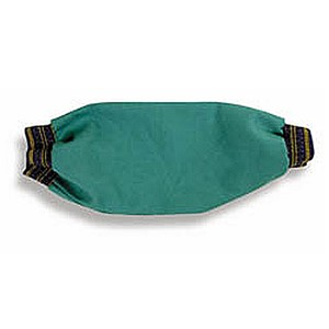 """18"""" FR Green Sateen Welding Sleeve with Elastic Ends"""