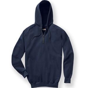 Pullover Quarter-Zip Hooded FR Fleece Sweatshirt