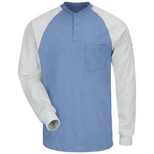 Color Blocked FR Henley Shirt