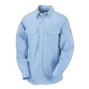 Womens EXCEL FR 100% Cotton Striped Uniform Shirt