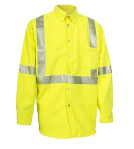 Hi-Vis FR Long Sleeve Button Down Work Shirt