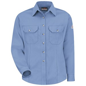 FR Womens Button Front Dress Shirt in Cool Touch 2