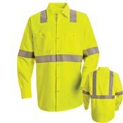 Single Stripe, Long Sleeve Hi-Vis Work Shirt